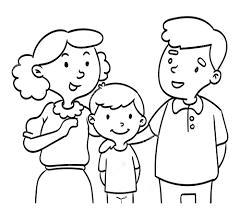 30+ những mẫu tranh tô màu gia đình hạnh phúc cho bé - Tranh tô màu cho bé