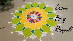 Rangoli Designs For School Competition Very Easy Rangoli For Festival Rangoli Design Beautiful Rangoli Design For Competition