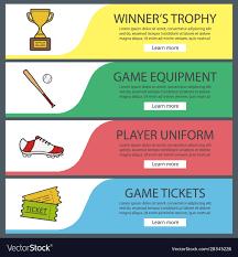 Baseball Design Templates Baseball Banner Templates Set