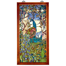 Authentic Art Nouveau Stained Glass Designs In Full Color Details About Design Toscano Peacock Wisteria Tiffany Style Stained Glass Window