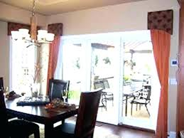 sliding glass door decorating ideas valance horizontal blinds curtains