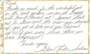 A Letter Of Thanks – Van Oordt Landscaping