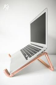 copper pipe laptop stand laptop notebook stand desk polished copper chic modern office ergonomic macbook