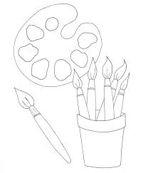Small Picture Painters Palette Coloring Page Wee Folk Art