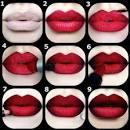 Как сделать алые губы