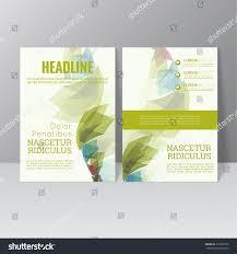Trellis Web Design Vector Brochure Template Design Colored Crystals Stock Image