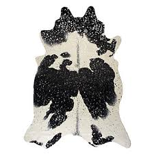 ayi metallic faux cowhide rug black silver faux cowhide rugs collections z gallerie