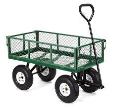 editorial pick gorilla carts gor400 com steel garden cart with removable si