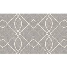 ruggable washable grey indoor outdoor distressed throw rug common 3 x 5