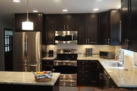 kitchen ideas dark cabinets modern. Lovely Light Floors Dark Cabinets #0 - Dazzling Kashmir White Granite Method Raleigh Modern Kitchen Ideas B