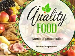 Free Food Powerpoint Templates Quality Food Powerpoint Template By Poweredtemplate Com