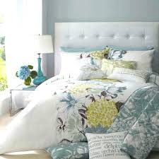 blue and yellow bedding contemporary bedroom with gray fl comforter set design quilt navy duvet cover