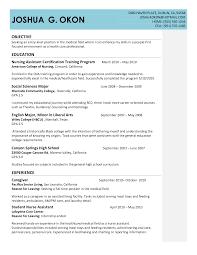 Entry Level Cna Resume Sample Free Resume Templates 2018