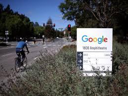 google offices world. Google Heading Into The Googleplex In Mountain View, California.Justin Sullivan/Getty Offices World E