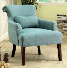 Blue Pattern Accent Chair Enchanting Blue Fabric Accent Chair Caravana Furniture