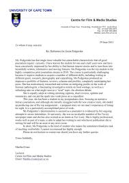 College Letter Of Recommendation Template Letters University