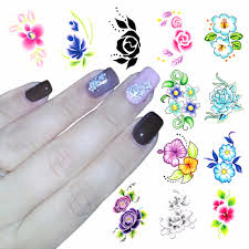 Flower Adhesive Nail Stickers Nail Art UK. Aliexpresscom Buy ...
