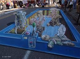 3d Chalk Art Sarasota Leon Keer 3d Street Artist 3d