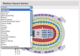 Ticketmaster Seating Chart Madison Square Garden Faithful
