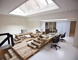 cool office ideas decorating. cool use of pallets to make an office sculpture decor u2013 workplace designers ideas decorating m