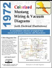 1972 ford mustang shop manual d10022 1972 ford mustang wiring schematic and mustang vacuum diagrams