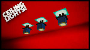 Minecraft How To Make Light Minecraft How To Make Nice Lighting Ceiling Lights