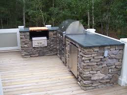 Outdoor Kitchen Gas Grill The Outdoor Kitchen Soapstone Countertop Matches The Kitchen