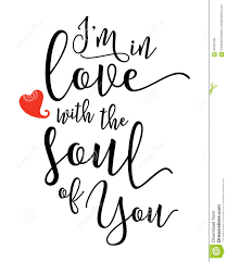 Lyrics To Love You By Free Design I M In Love With The Soul Of You Stock Vector Illustration