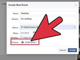 how to create a marriage invitation on facebook