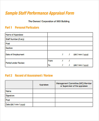 40 Simple Appraisal Forms