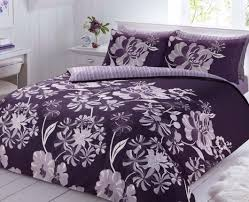 Linear Floral Purple Duvet Cover with Pillow Case Quilt Cover ... & Linear Floral Purple Duvet Cover with Pillow Case Quilt Cover Bedding Set Adamdwight.com
