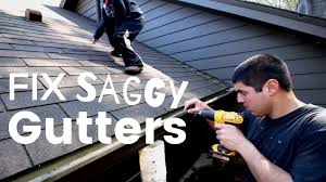 how to repair gutters.  How How To Fix Sagging Gutters Intended Repair