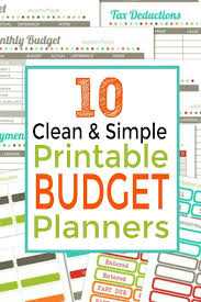 Budget Planners Free Detailed Budget Planner Mwb Online Co