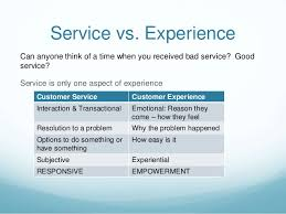 Customer Experience Moving Beyond Service