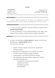 Sample Chemistry Resume Best Of Paint Chemist Resume