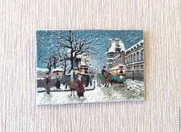 picture paris 2 polymer clay wood substrate