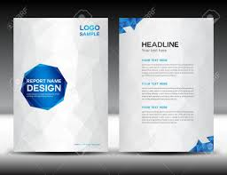 White Brochure White Cover Annual Report Template Polygon Background Brochure