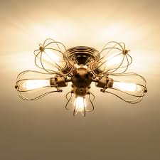 Deckenleuchte Retro Metall Deckenleuchte Antik Retro Lampe Für