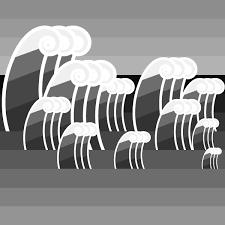 かわいい波の無料イラスト商用フリー オイデ43