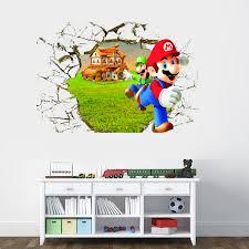 super mario ed 3d wall decal