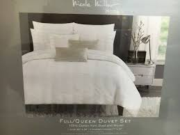 nip nicole miller full queen duvet 3pc