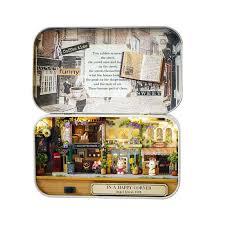 mini doll furniture. 3D Miniature Doll House Realistic 1:12 DIY Wood Houses Assemble Box Dollhouse Furniture Mini F