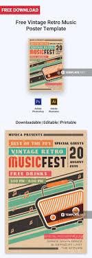 Downloadable Poster Templates Free Vintage Retro Music Poster Poster Templates Designs 2019