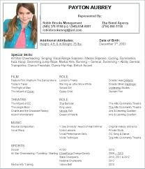 Theater Resume Format Template Download Templates Excellent Actors ...