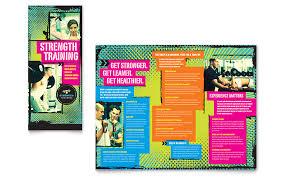 Training Flyer Strength Training Tri Fold Brochure Template Word Publisher