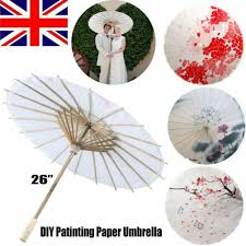 60cm chinese vintage white paper umbrella diy parasol for wedding party ball dec for