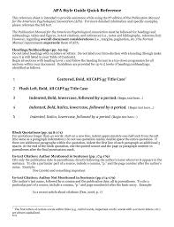 Apa Style Guide Quick Reference Graduateapa Style Guide