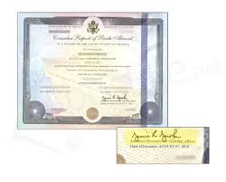replacement birth certificate ny best of consular report of birth certificate signed by istant secretary of