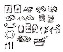 朝食はパンとコーヒー派のイラスト素材ai飲食イラストのフリー素材