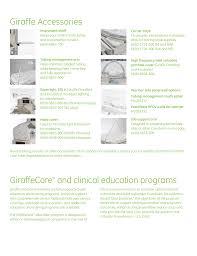 Ge Tech Support Giraffe Accessories Giraffecare And Clinical Education Programs